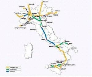 TAV - map of italy